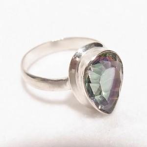 天然石ミスティックトパーズの銀張りリング size 11.5  指輪のセール通販 5605R