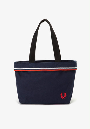 TWIN TIPPED SMALL TOTE BAG NAVY