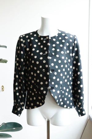 Christian Dior silk dot jacket