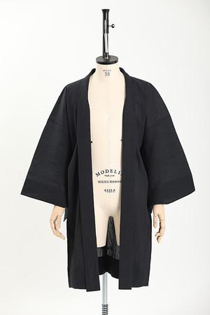 羽織 / 手しぼ / 無地 / Black(With tailoring)