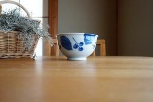 砥部焼/そば丼/ブルー木の葉/森陶房