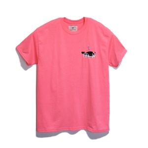 KUNCHI  TEE - safety pink  <KUJIRA>