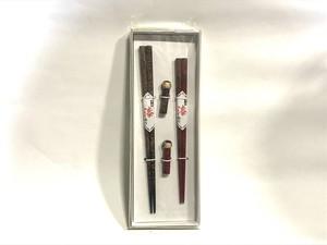 津軽塗 夫婦箸 こけし箸置きセット