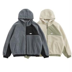【UNISEX】フリース プルオーバー ボア パーカー ジャケット 【2colors】UN-A0167