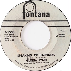 Gloria Lynn – Speaking Of Happiness / Sometimes It Be's That Way