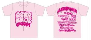 【限定品】亜桜ゆぅきTシャツ ASAKURA KAMIOSHI (PINK)