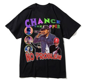 "BOOTLEG RAP T-Shirts ""CHANCE THE RAPPER"" BLACK"