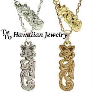 【HawaiianJewelry / ハワイアンジュエリー】 プルメリア ネックレス/ペンダント シェル メンズ レディース ペア