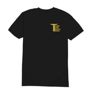LLSB Pillar T-Shirt Black Yellow longlivesouthbank