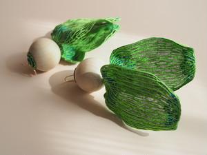 ARRO / Embroidery earrings / KALA / GREEN