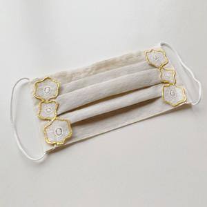 オリジナルプリーツマスク「金箔レース花とはな」医化学的繊維と銀の糸を使った抗菌防臭