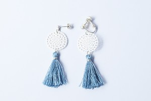 silk tassel lace silver _ blue