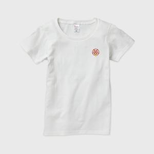 レディースTシャツ(ワンポイント) 【にゃんこ学園校章】