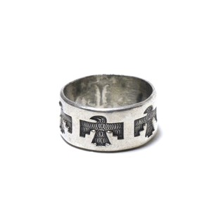 40's Vintage Bell Trading Post Sterling Silver Thnderbird Ring