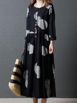 【dress】Loose comfortable ladies long casual dress