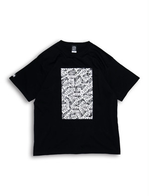 LOGO STICKER BOMB TEE black