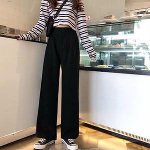 【bottoms】 新作ハイウエストカジュアルパンツ26800245