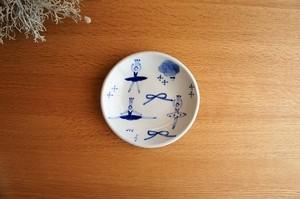 砥部焼/銘々皿(小)/バレリーナ/森陶房kaori