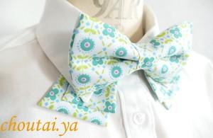 レトロフラワー 襟で楽しむ蝶ネクタイ