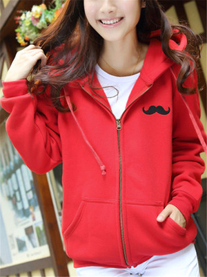 【outer】Hooded solid color cardigan coat