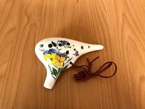 南投陶笛 オカリナ「アルトC管」 花柄①
