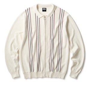FTC (エフティーシー) / PIN STRIPE ZIP UP SWEATER -CREAM-