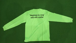 """1ONEEIGHT8 """"Happlness is a long""""ロゴ 長袖Tシャツ (グリーン)"""