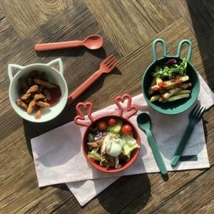 holiday animal bowl 6type / ホリデー ウサギ ネコ トナカイ ボウル スプーン フォーク ラビット キャット 猫 皿 韓国 雑貨
