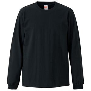クルーネック Tシャツ (長袖・オープンエンド) ブラック