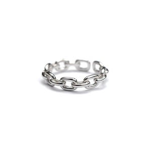 S925 ADJUSTABLE CHAIN RING SILVER