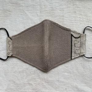 マスク 78 グレー12.50x10cm アマゾンの泥染め