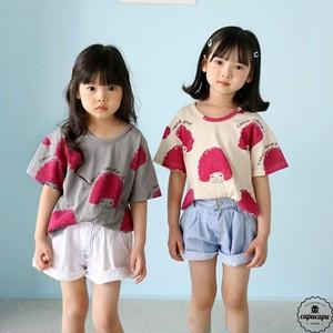 «予約»«ジュニアサイズ» bubble kiss naturally curly hair T 2colors ガールTシャツ
