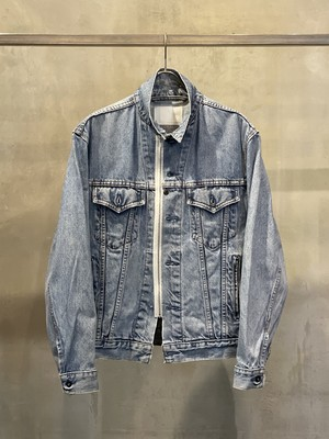 TrAnsference zip denim jacket - light indigo