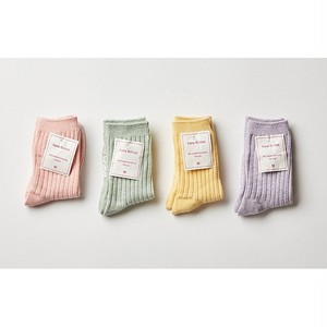 【即納商品】pastel rib socks