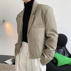 2色/ライトダウンショートジップジャケット ・1367