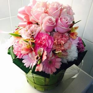 2017母の日フラワーギフト生花アレンジメント プリンス