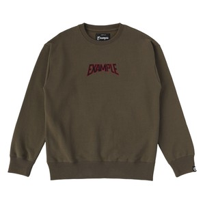 S.W CREW NECK / KHAKI x BLACK