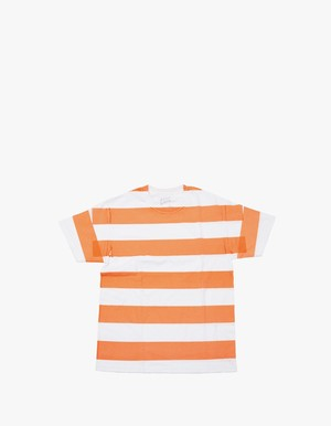 "EZ  DO by EACHTIME. for EZ D MARKET Print Border Tee ""Orange sorbet"""