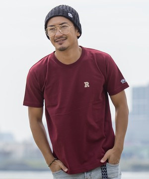 R EMBROIDERY T-shirt[REC179]
