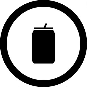 缶OKマークのカッティングシートステッカー