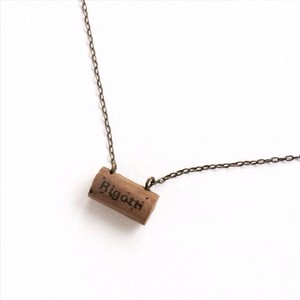 オーボエリードのロゴネックレス  Oboe reed putti necklace