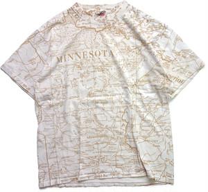 90年代 地図柄 Tシャツ ″MINNESOTA″ 【L】 | ヴィンテージ 古着