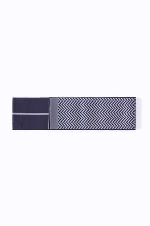 博多角帯 / Herringbone / Navy × Black
