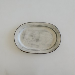 きなり 楕円リム皿 M|くにさきかたち工房 垣野勝司