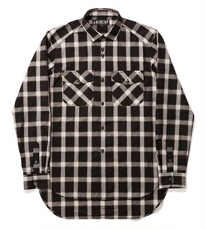 LONG TALE PLAID SHIRT【1543】BAL【バル】