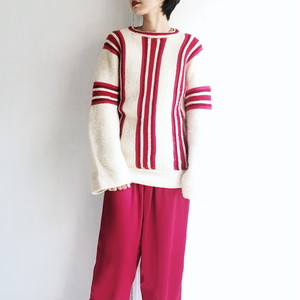 EUROPE VINTAGE Multi stripe knit