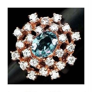 綺麗なカラーチェンジ! 大粒6.1ct スピネル リング 指輪 12号 アフリカ産 青からピンクへの変色!