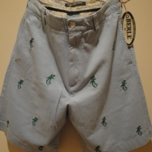 "BERLE/バール USA | 【SALE!!! 50%OFF】 EMBROIDERY CHINO SHORTS ""GECO"" SAX"