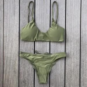 Bikini♡バッククロスシンプルビキニ カーキ