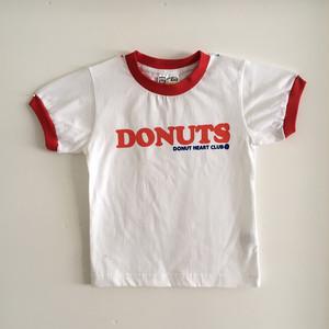 DONUTS Ringer Kids T-shirt (WHITE & RED) <Jr-S(110)>